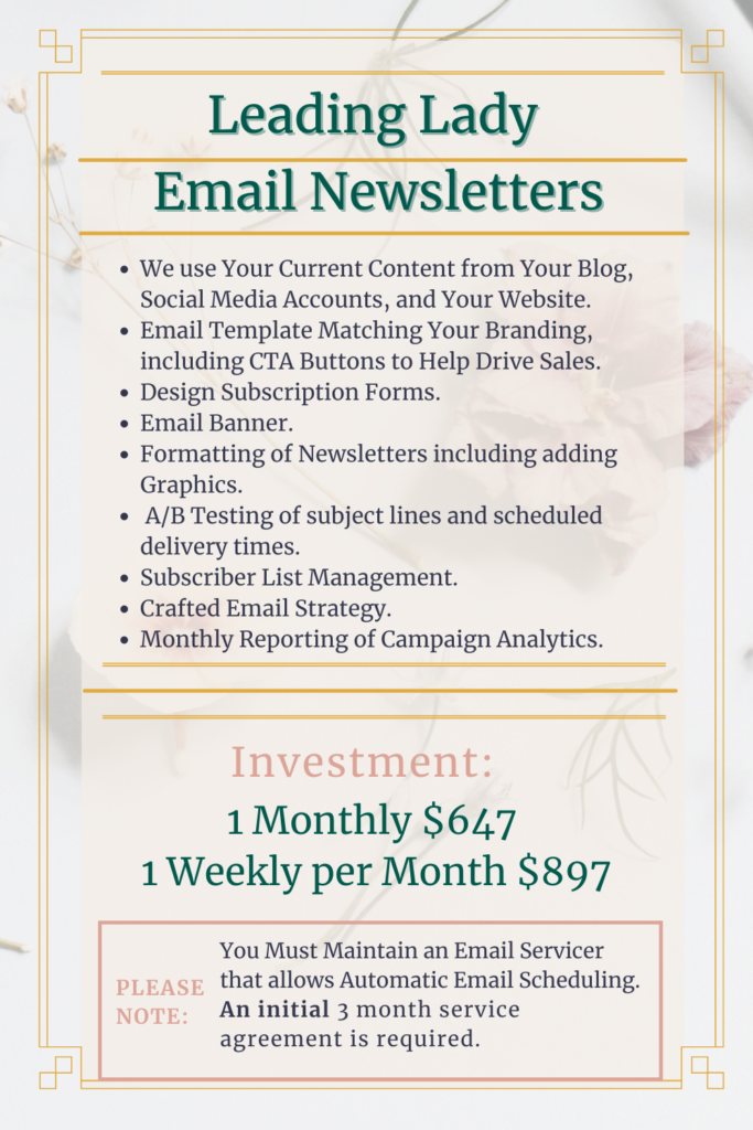 Lending Lady Email Newsletters